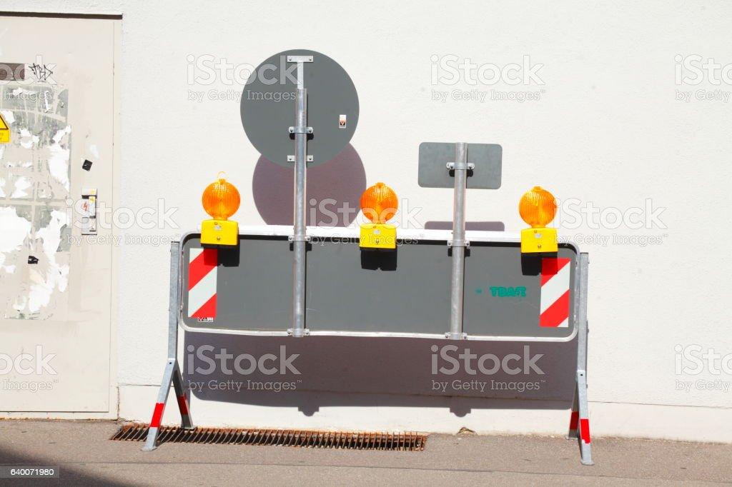 Baustellenabsperrung stock photo