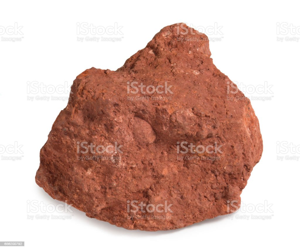 Bauxite, an aluminium ore, is the main source of aluminium metal. stock photo