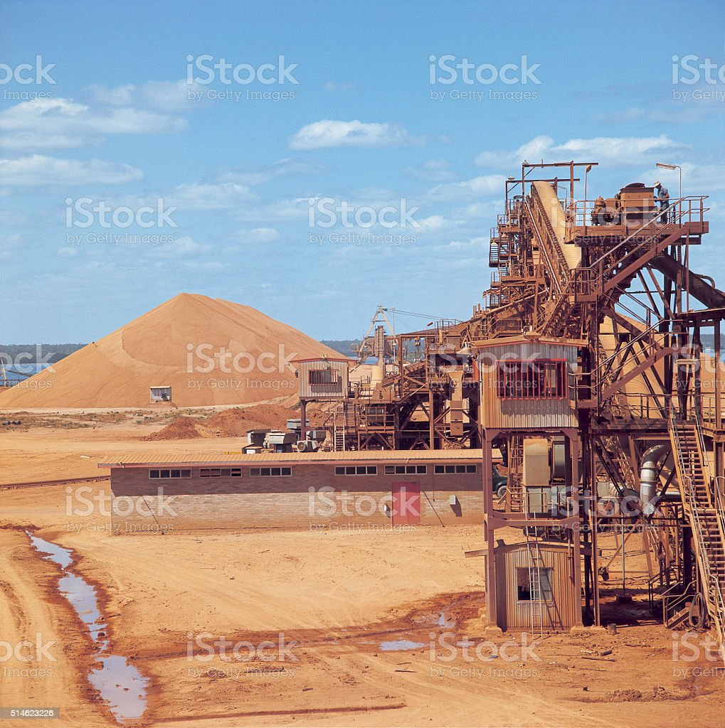 Bauxite mine stock photo