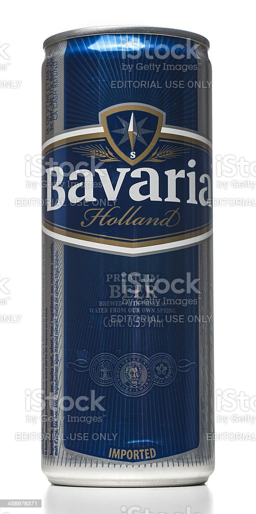 Bavaria beer can royalty-free stock photo