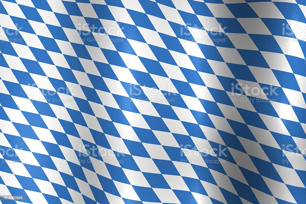 Bavaria Germany Flag as a symbol for the Oktoberfest stock photo
