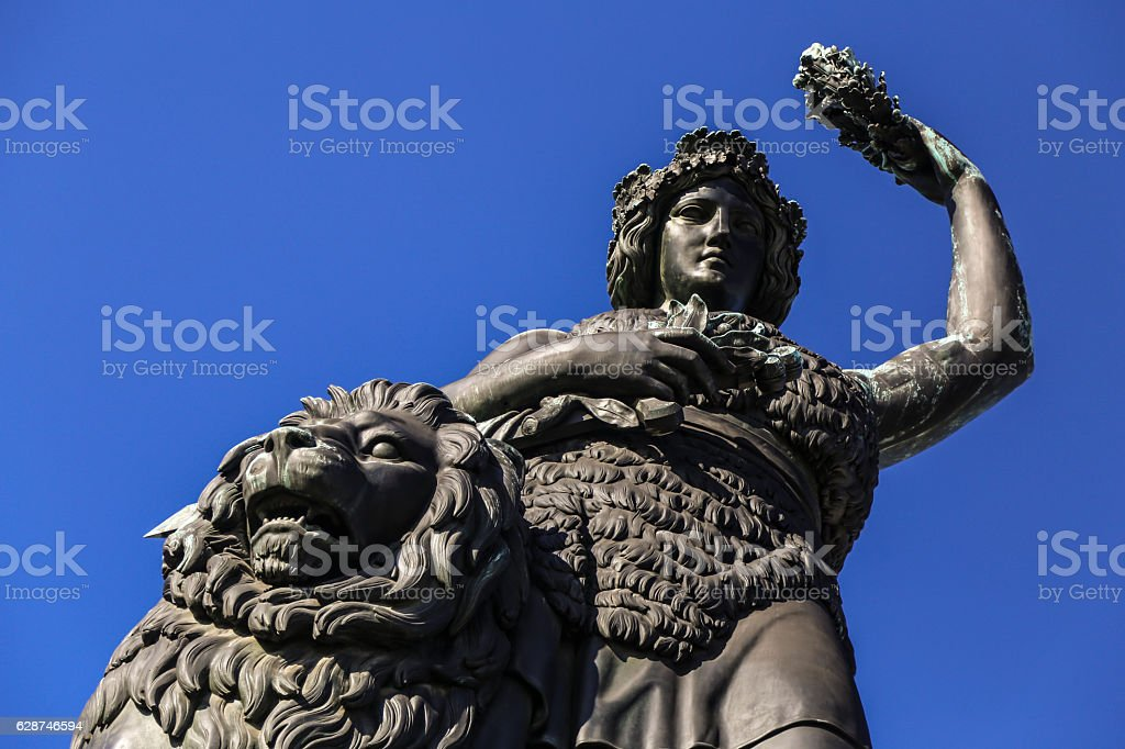Bavaria statue Munich stock photo
