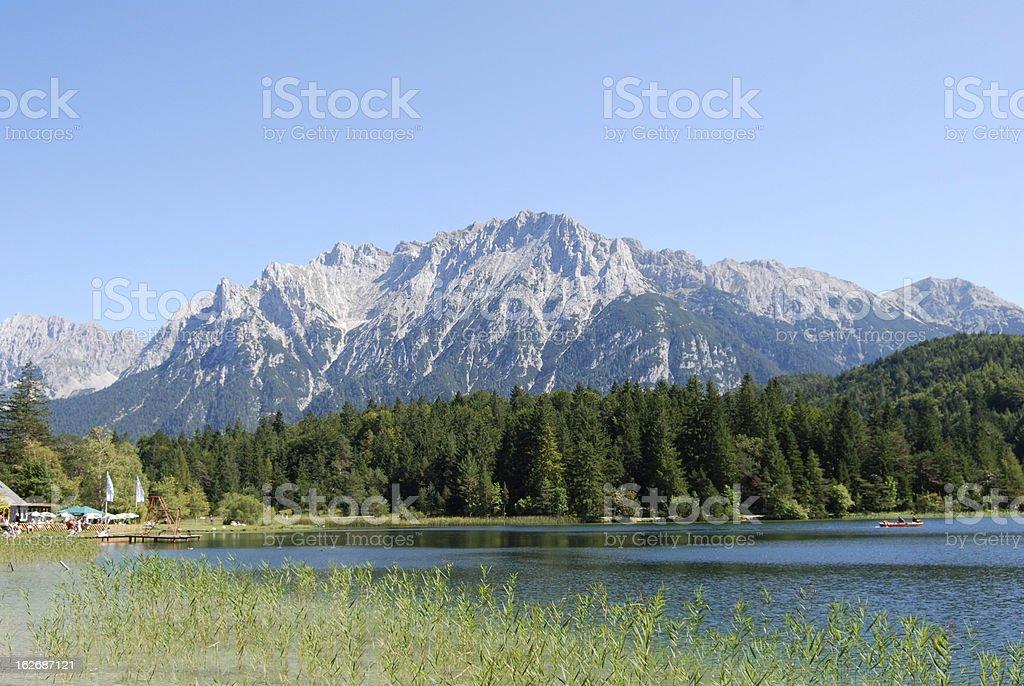 Bavaria-idyllic lake royalty-free stock photo