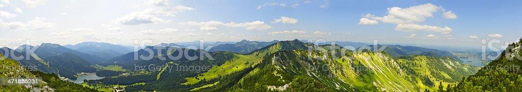 bavarian alps panorama stock photo