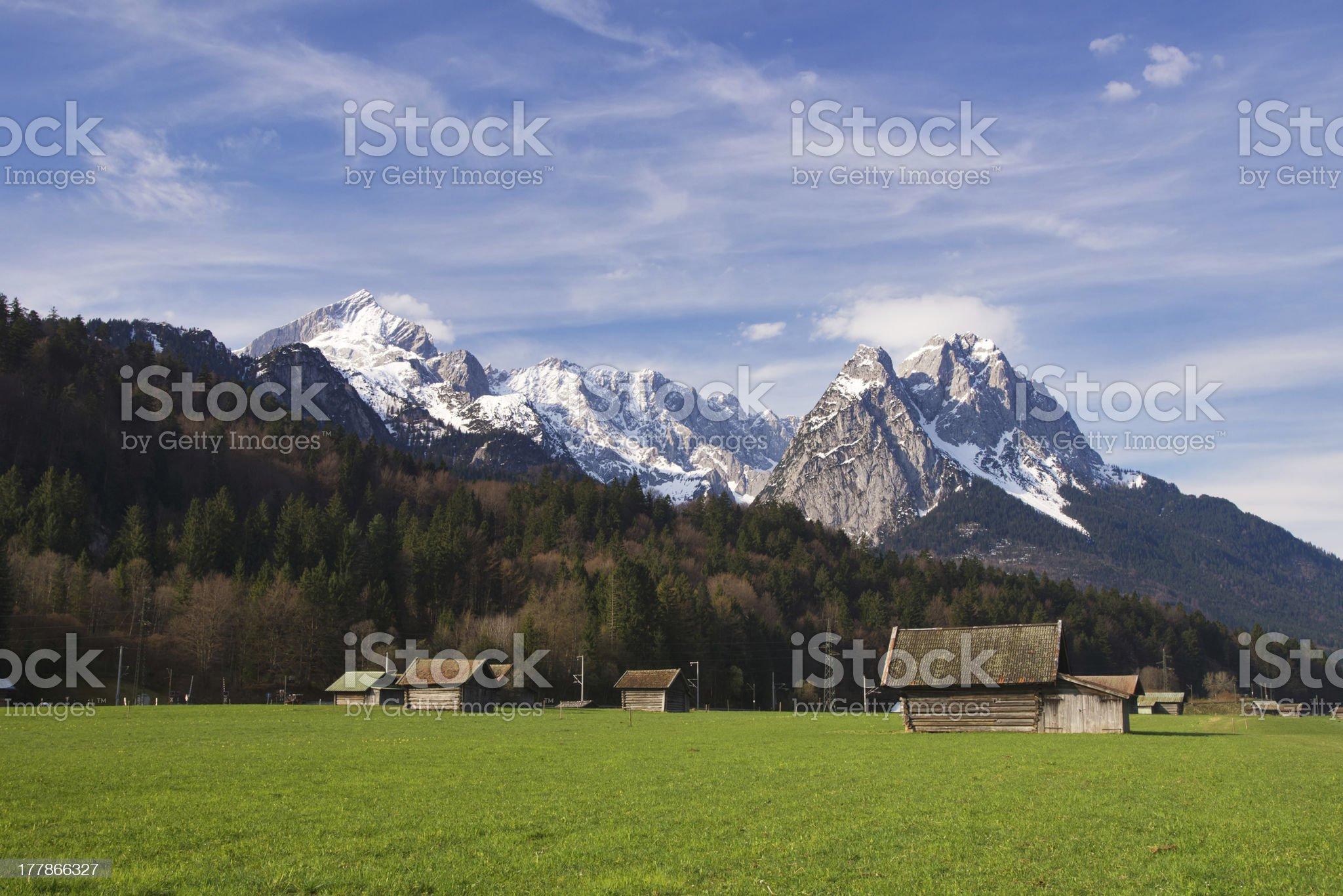 Bavarian Alps royalty-free stock photo