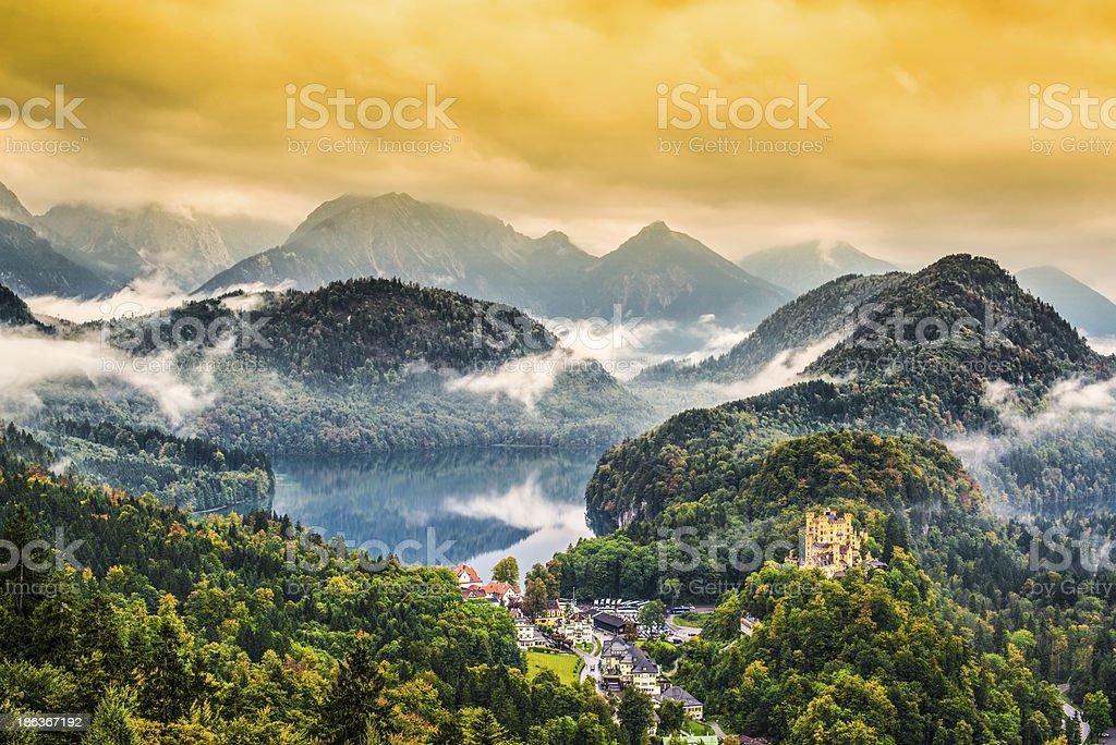 Bavarian Alps stock photo