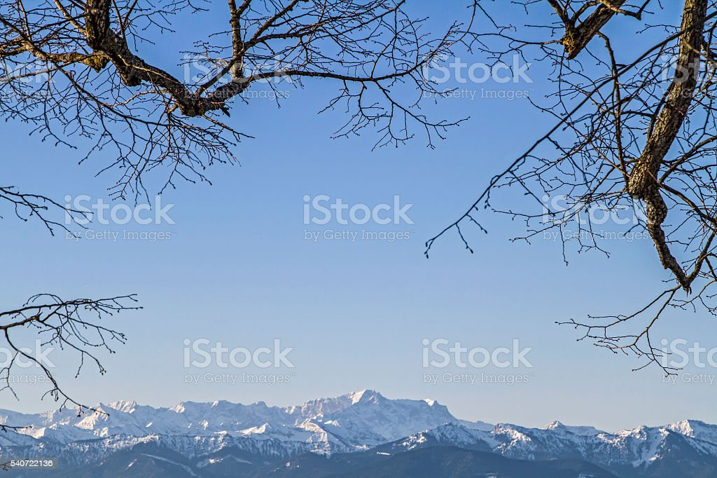 Bavarian and Allgäu Alps stock photo