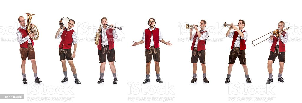 Bavarian / Austrian Brass Band stock photo