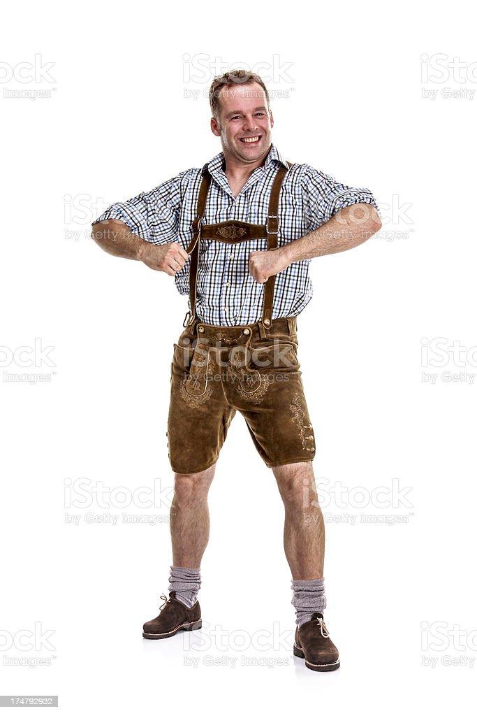 Bavarian / Austrian Man Posing for Fun stock photo