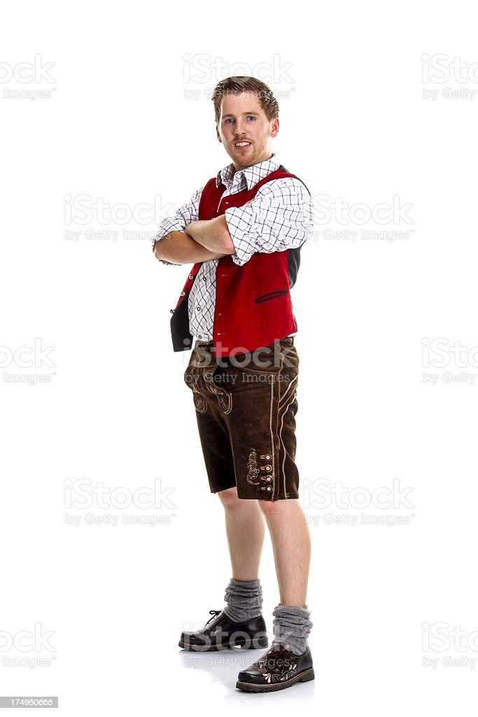 Bavarian / Austrian Musician stock photo