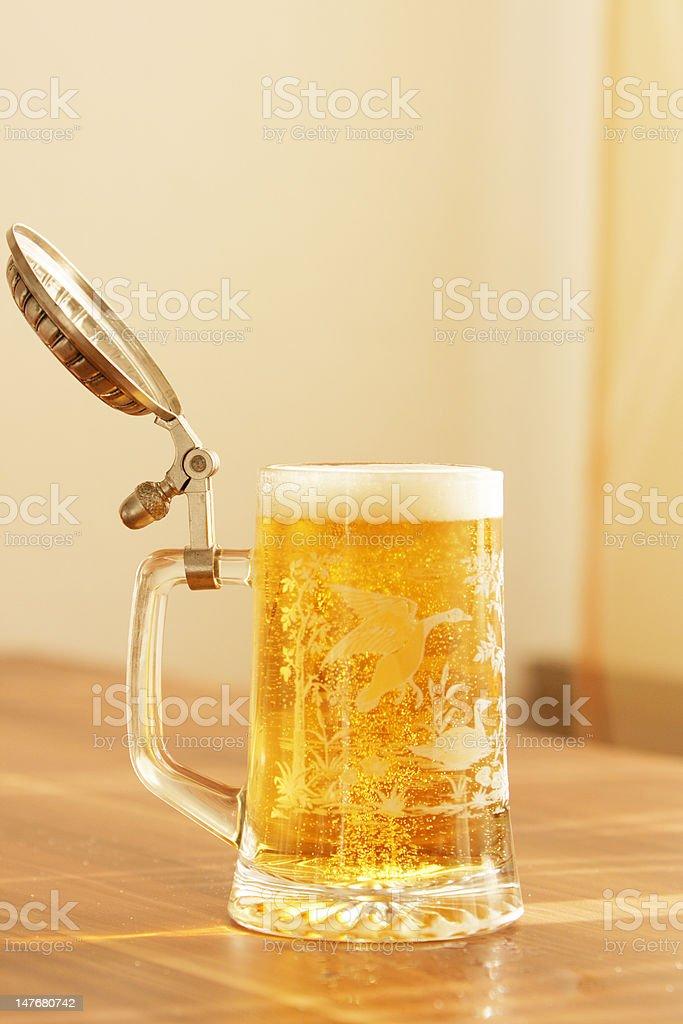 Bavarian beerglas royalty-free stock photo