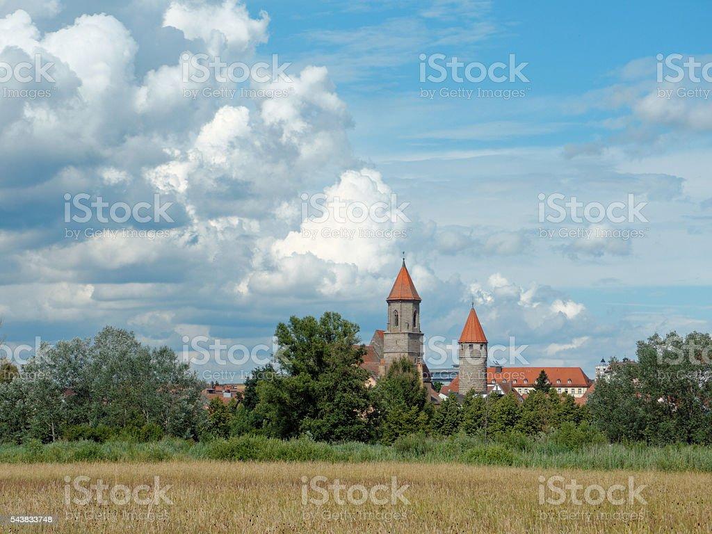 Bavarian churches: St Maria in Gunzenhausen, Altmühltal Middle Franconia stock photo
