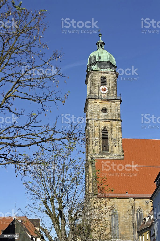 Bavarian Churches: St. Martin in Amberg stock photo