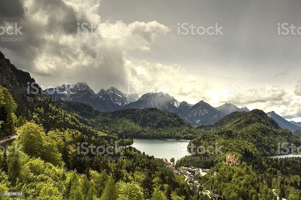 Bavarian Countryside in Spring stock photo