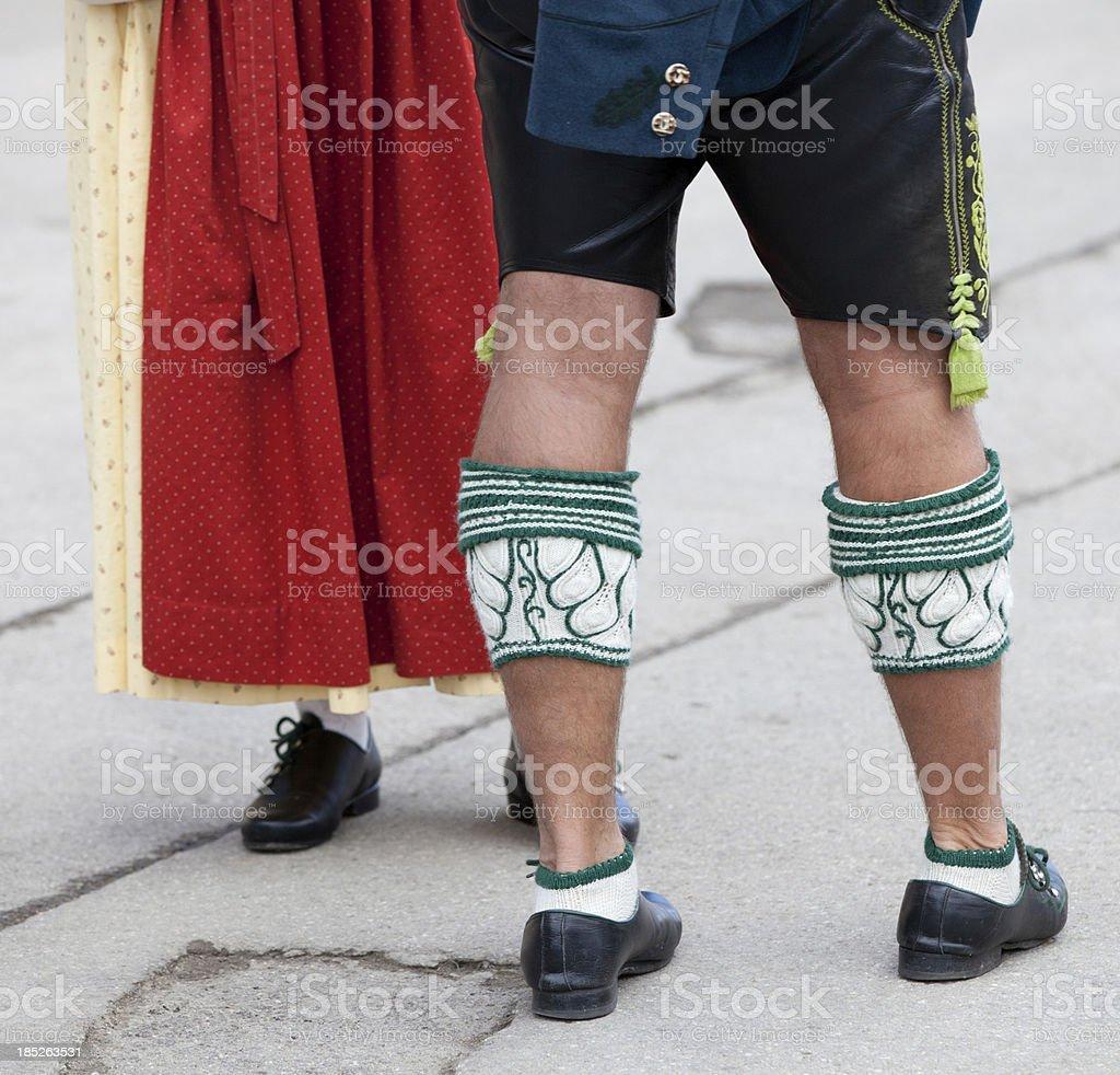 Bavarian couple stock photo