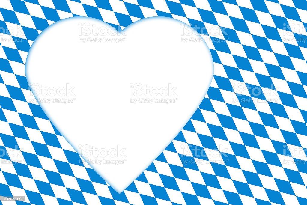 bavarian flag Oktoberfest with heart stock photo