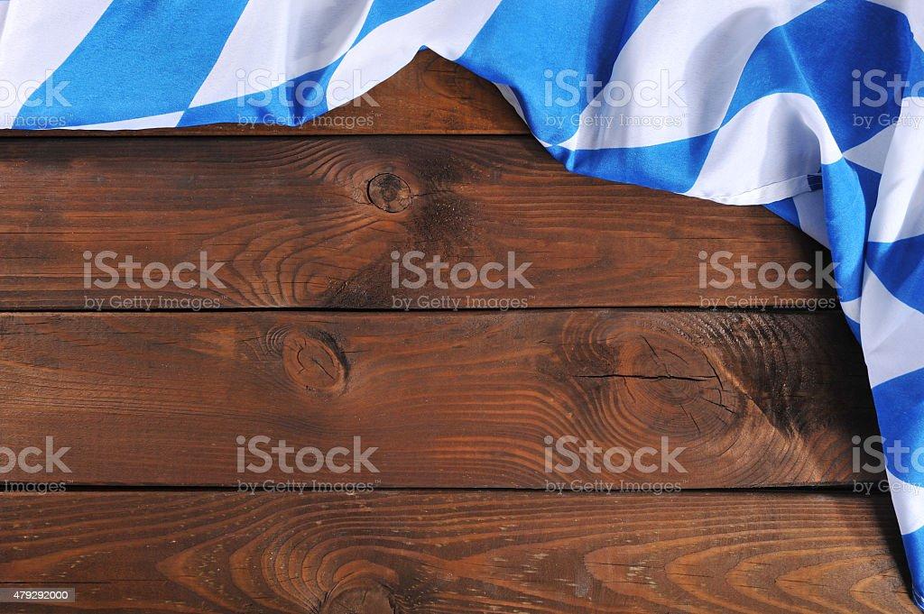 Bavarian flag on wooden board stock photo