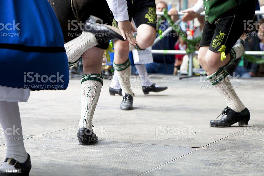 bavarian folk dance at oktoberfest in munich royalty-free stock photo