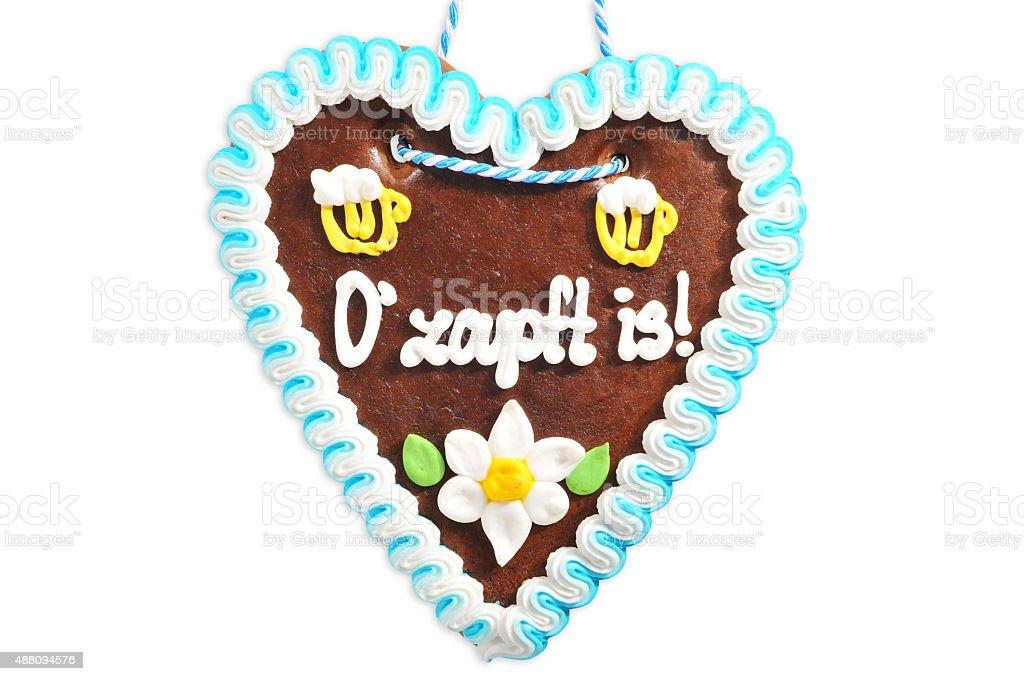 Bavarian gingerbread heart stock photo