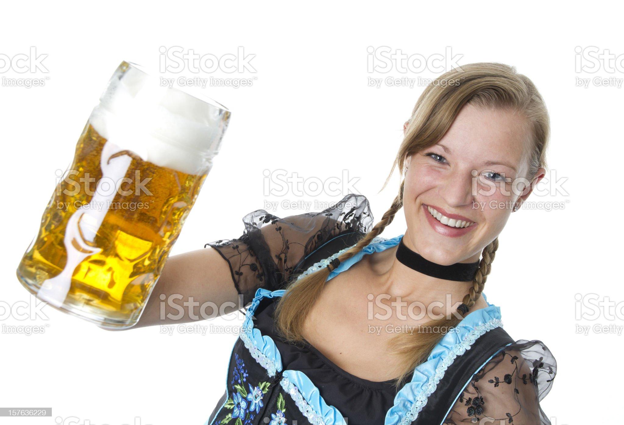 Bavarian Girl royalty-free stock photo