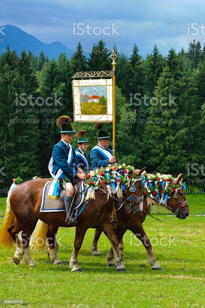Bavarian horse procession stock photo