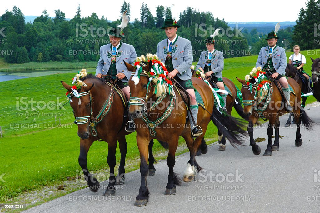 Bavarian horse procession royalty-free stock photo