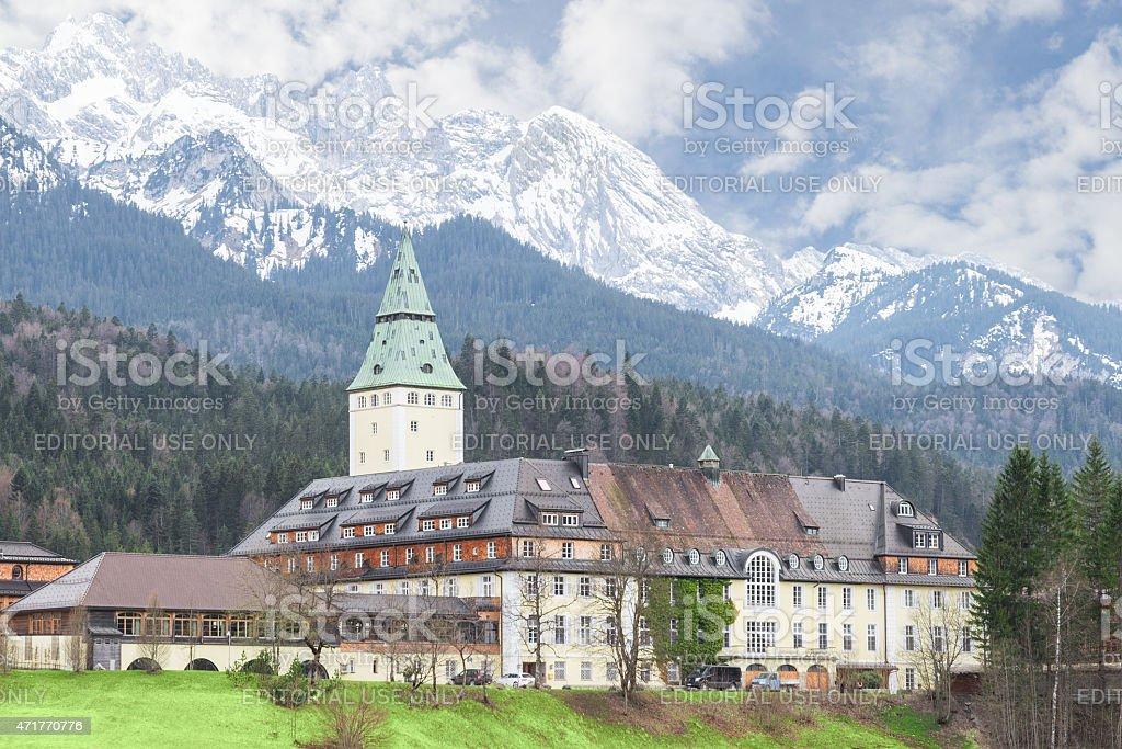 Bavarian hotel Schloss Elmau is official venue of G8 summit stock photo