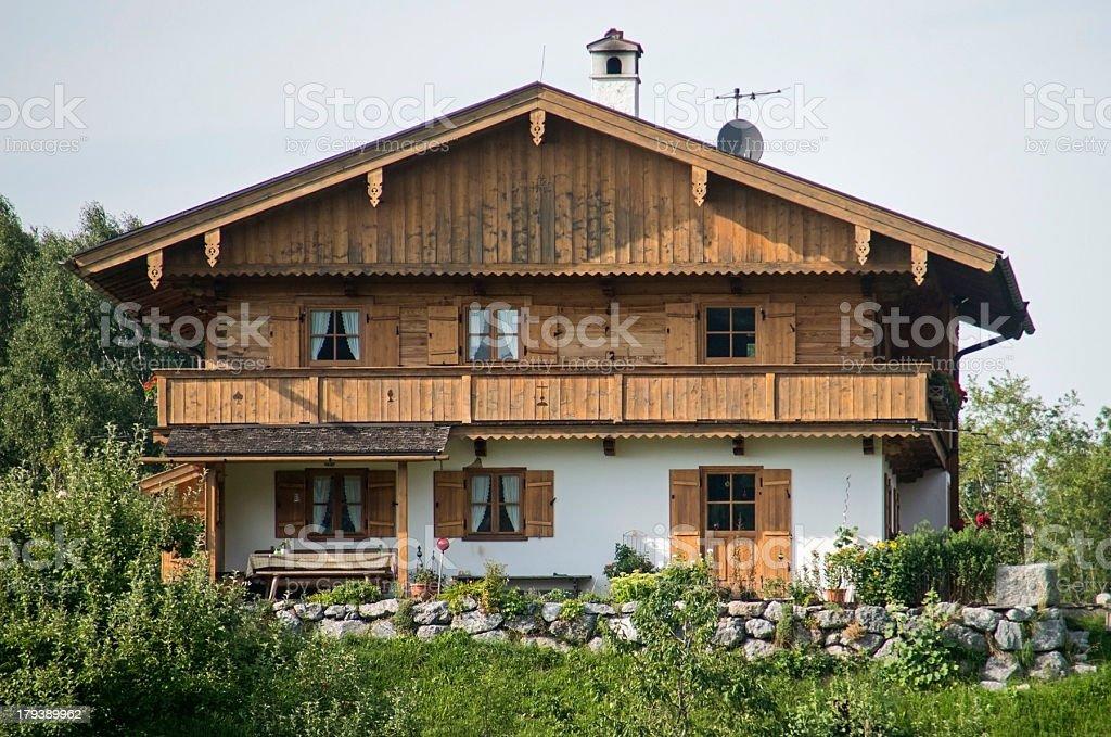 bavarian house - Landhaus am Tegernsee stock photo
