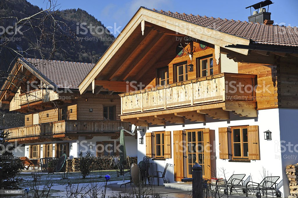 bavarian house - rural luxus homes stock photo