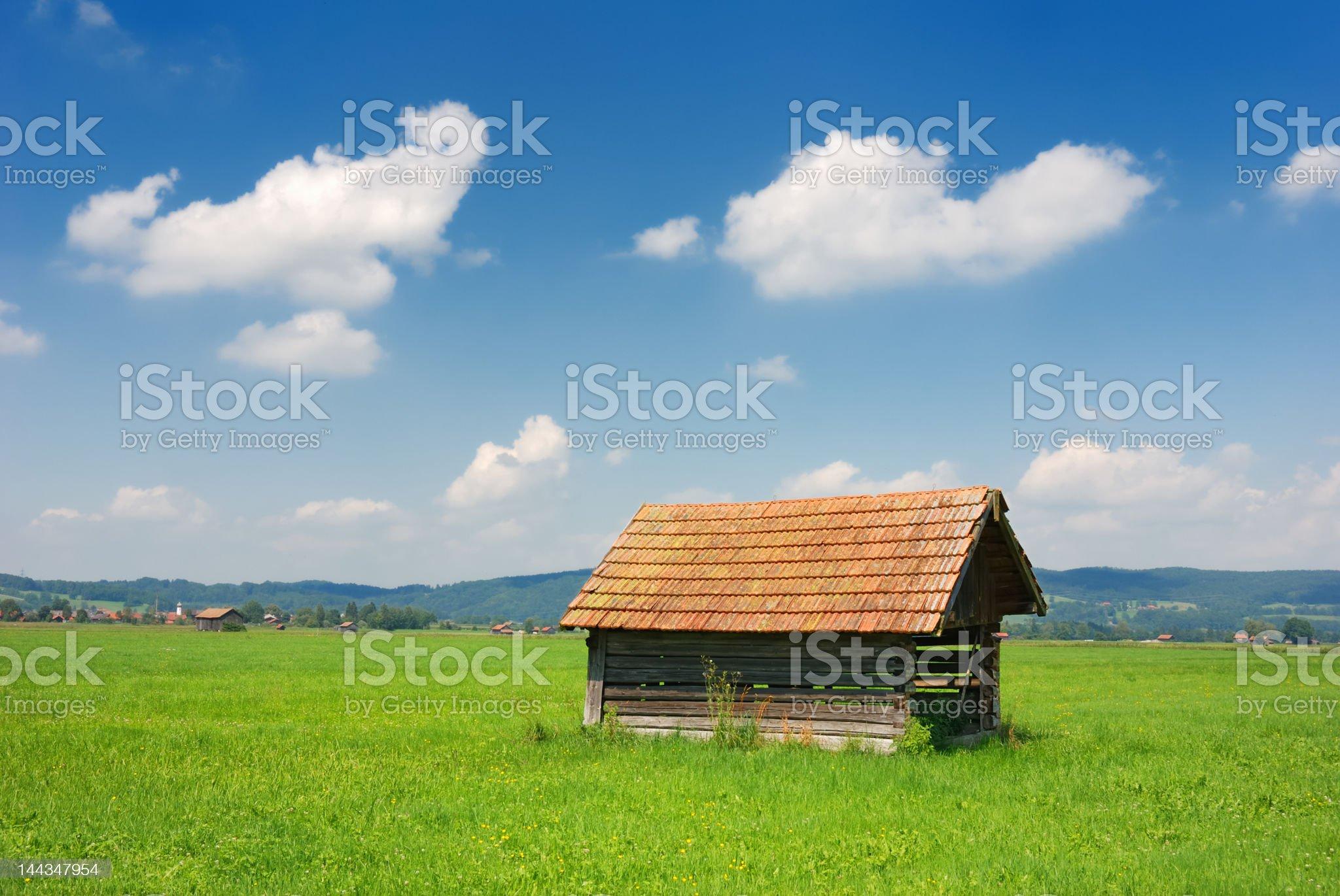bavarian hut horizontal royalty-free stock photo