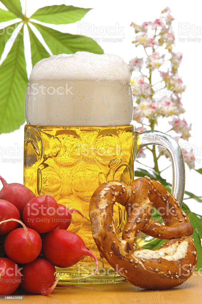 bavarian lager beer royalty-free stock photo
