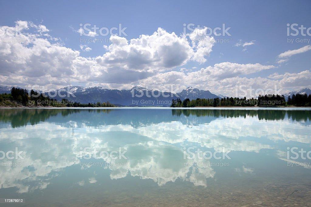 Bavarian Lake Reflection royalty-free stock photo