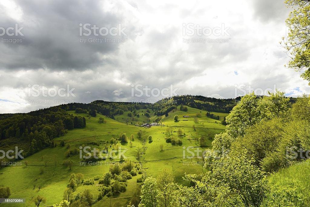 bavarian landscape royalty-free stock photo