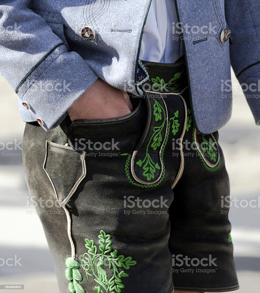 Bavarian Lederhose stock photo