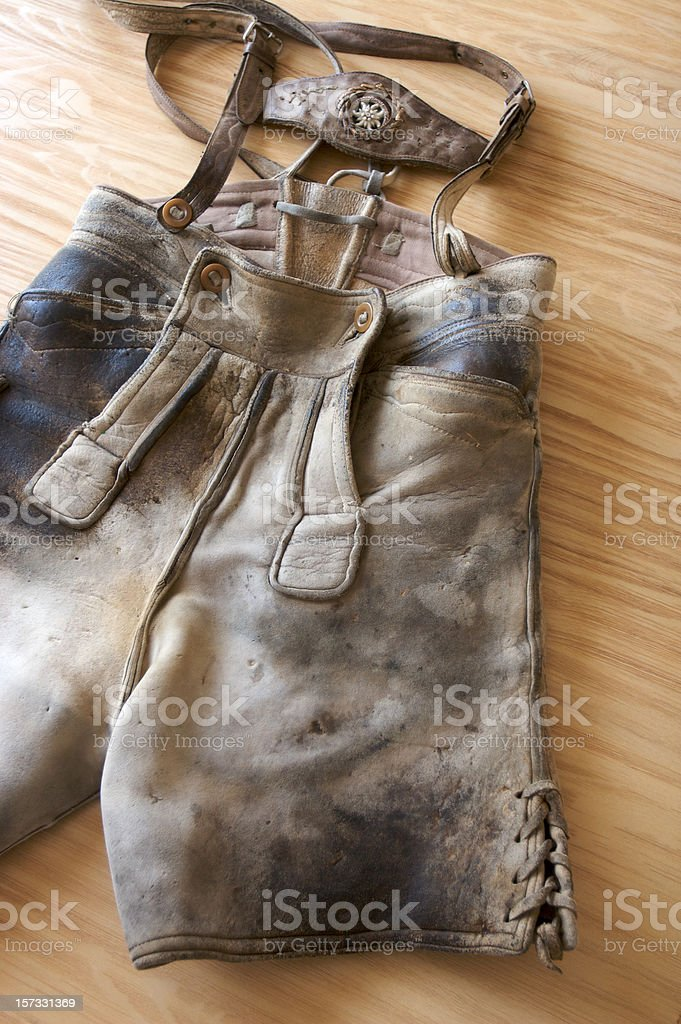 Bavarian Lederhosen royalty-free stock photo