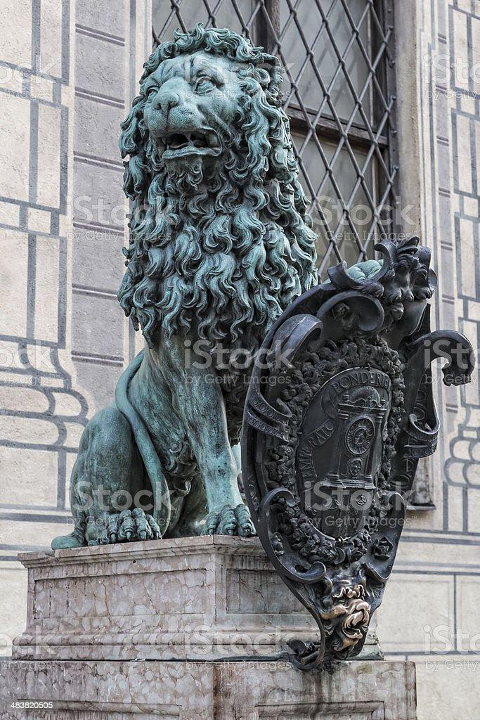 Bavarian Lion stock photo