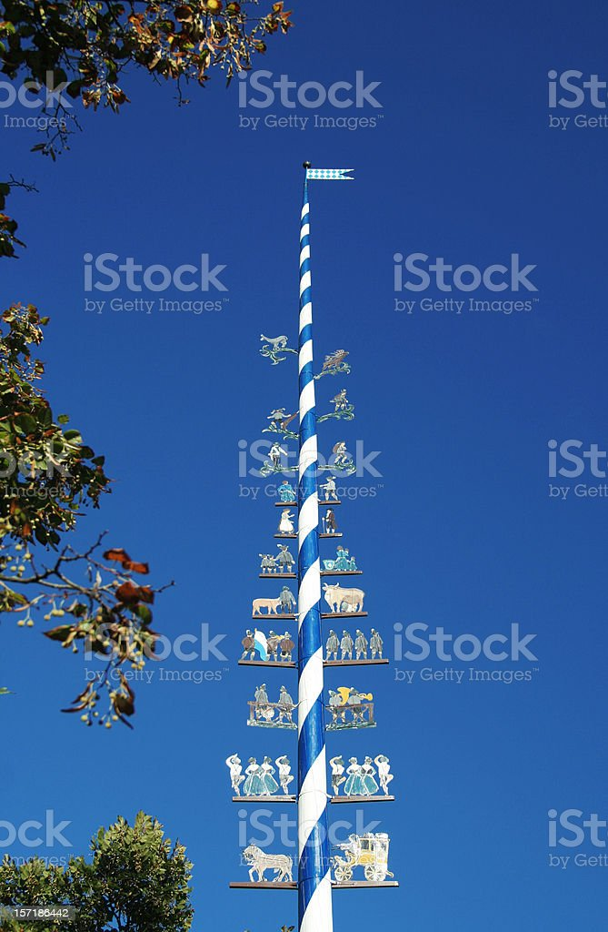 Bavarian Maypole stock photo