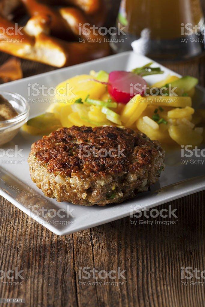 bavarian meatloaf stock photo