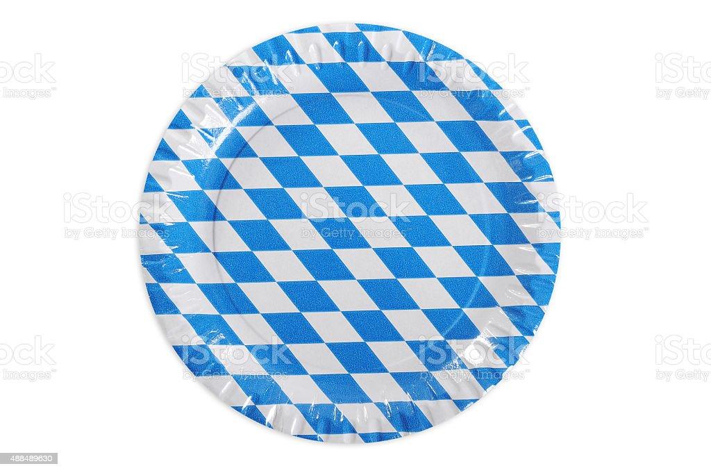Bavarian paper plate stock photo