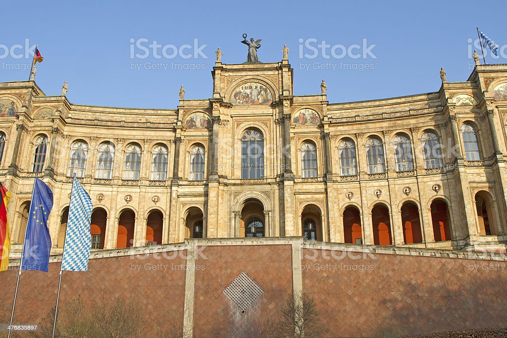 Bavarian Parliament in Munich, Germany stock photo
