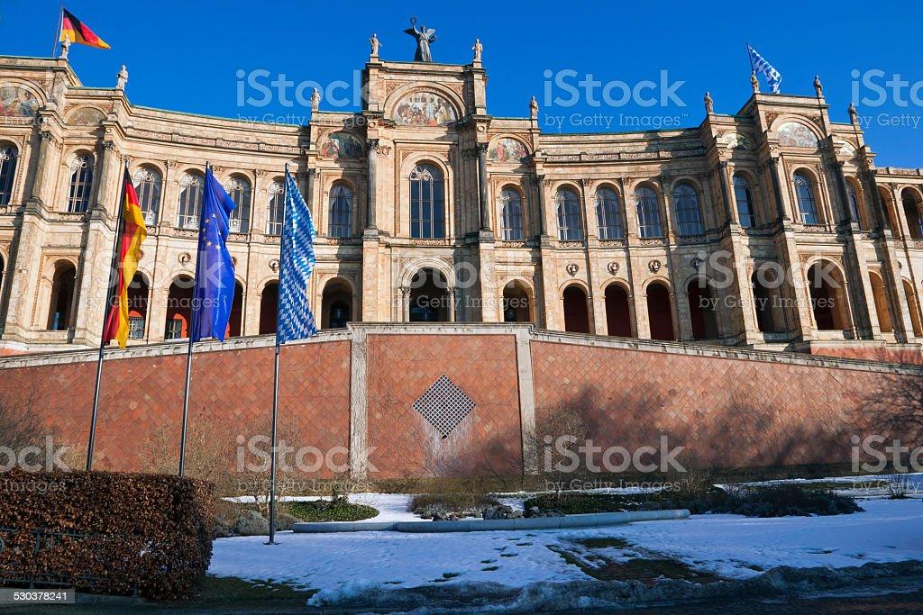 Bavarian Parliament stock photo