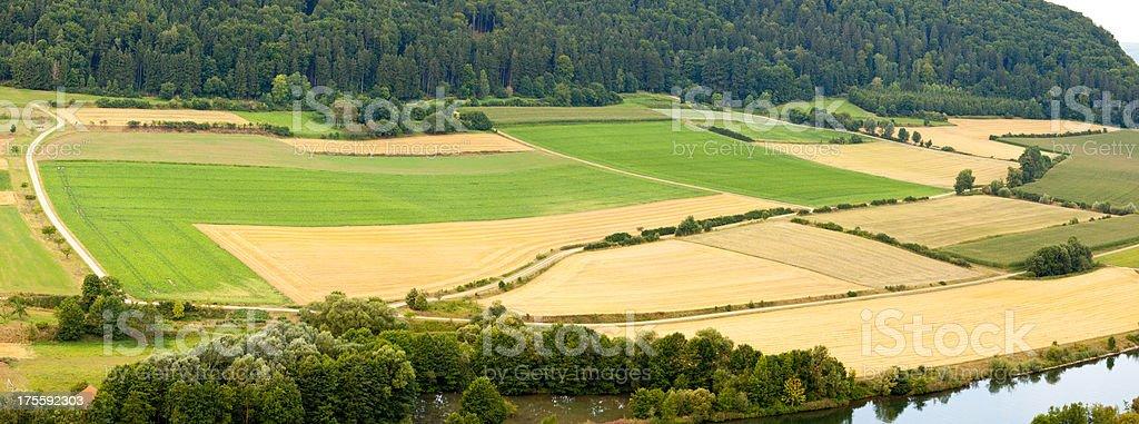 bavarian patchworklandscape stock photo