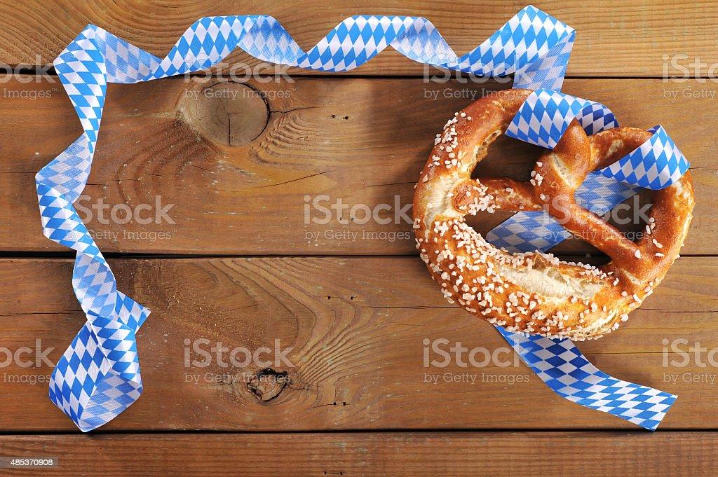 Bavarian pretzel stock photo