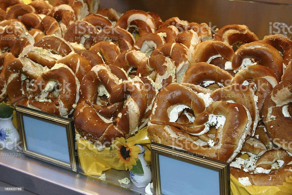 Bavarian pretzels royalty-free stock photo