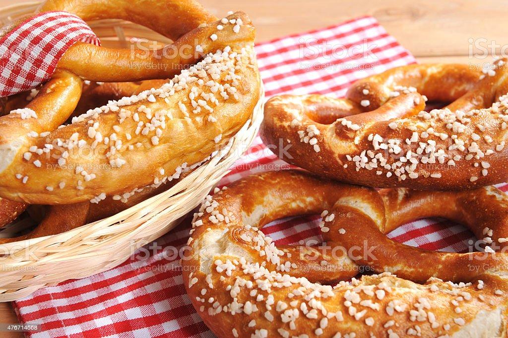 Bavarian pretzels stock photo