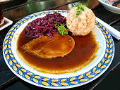 Bavarian Sauerbraten of beef, red cabbage