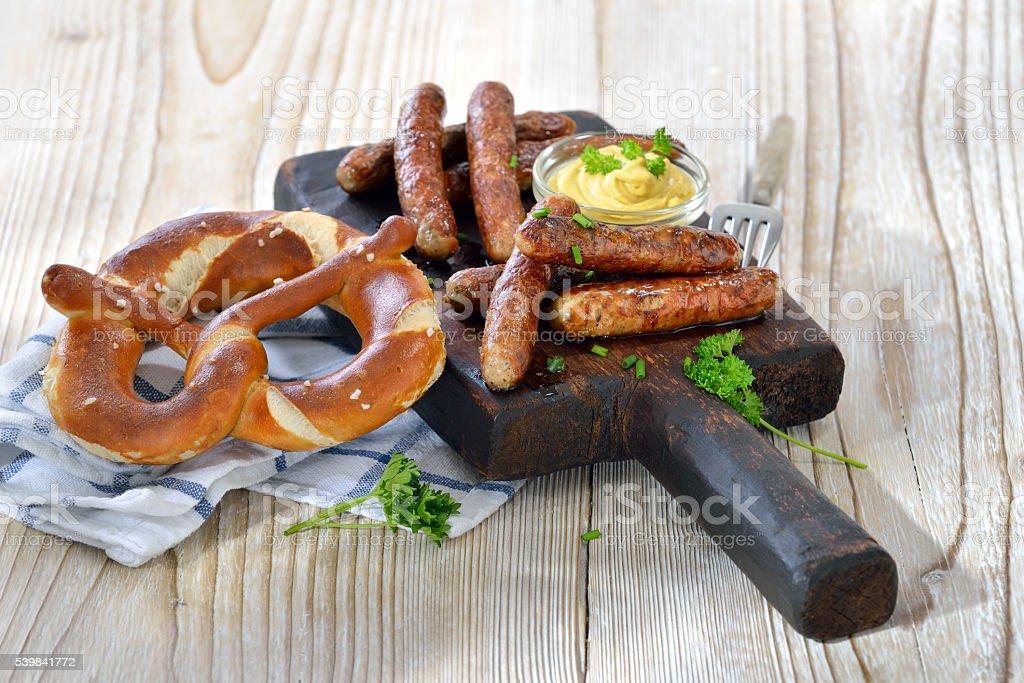 Bavarian sausages stock photo