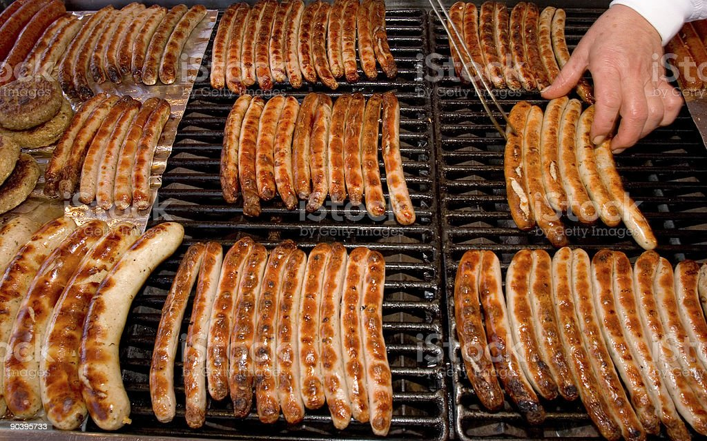 Bavarian sausages royalty-free stock photo