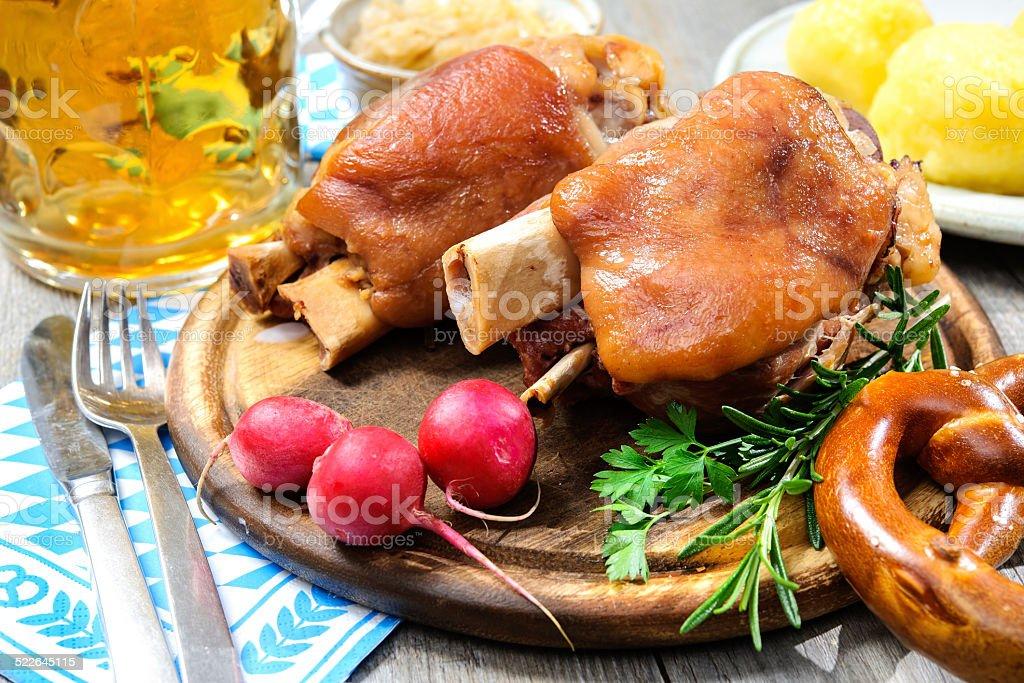 Bavarian Schweinshaxe stock photo