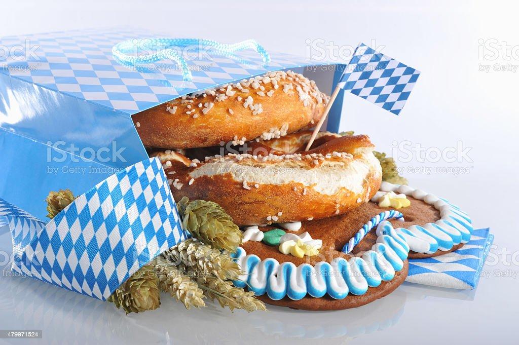 Bavarian shopping bag stock photo